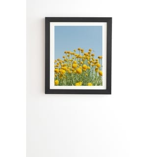 Link to Deny Designs Yellow Flowers Framed Wall Art (3 Frame Colors) - Blue Similar Items in Art Prints