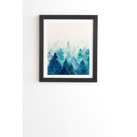 Deny Designs Blue Tree Forest Framed Wall Art (3 Frame Colors)