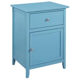 LYKE Home Blue 1 Drawer /1 Door Nightstand