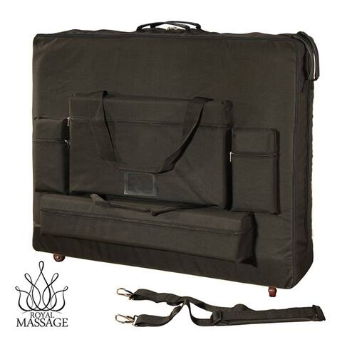 Royal Massage Deluxe Black Universal Massage Table Carry Case with Wheels