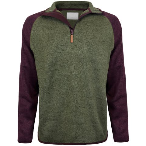 Men's Color Block Fleece 1/4 Zip Pullover