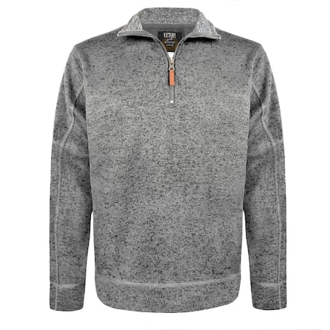 Men's Salt & Pepper 1/4 Zip Pullover