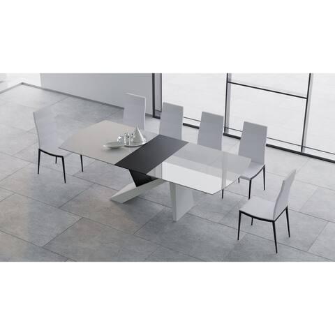 B-Modern Virtuoso 11-Piece White & Black Dining Set