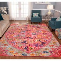 The Curated Nomad Rincon Distressed Pink/ Orange Rug