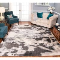 Strick & Bolton Milano Beige/ Charcoal Area Rug