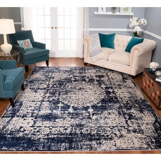 Strick & Bolton Morrow Navy/ Beige Area Rug