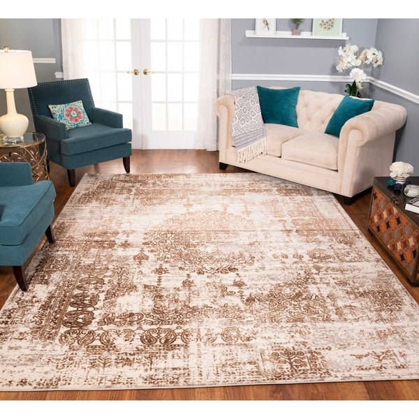 Strick & Bolton Morrow Ivory/ Brown Area Rug