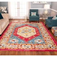 The Curated Nomad Rincon Distressed Pink/ Ivory Rug