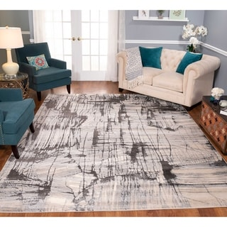 Strick & Bolton Mangold Charcoal/ Ivory Area Rug