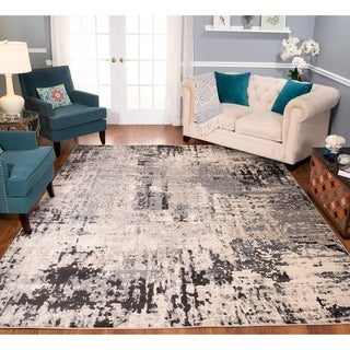 Strick & Bolton Marston Ivory/ Charcoal Area Rug
