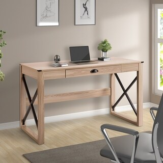 ModernLuxe Modern Style Writing Table Wood Desk with Drawer
