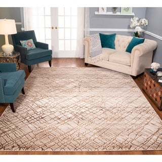 Strick & Bolton Montag Beige/ Brown Area Rug