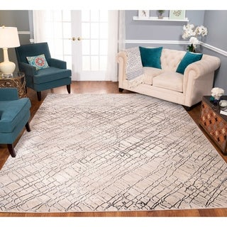 Strick & Bolton Montag Beige/ Charcoal Area Rug