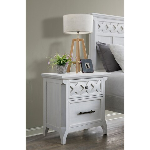 Martin Svensson Home Mendocino 2 Drawer Nightstand, White