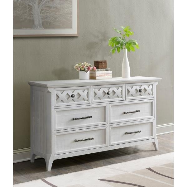 Martin Svensson Home Mendocino 7 Drawer Dresser, White