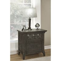Martin Svensson Home Mendocino 2 Drawer Nightstand, Grey