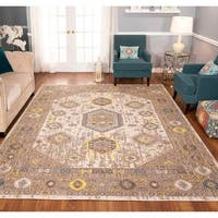 The Curated Nomad Rincon Distressed Ivory/ Brown Rug