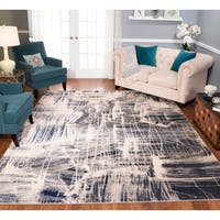 Strick & Bolton Mangold Navy/ Ivory Area Rug