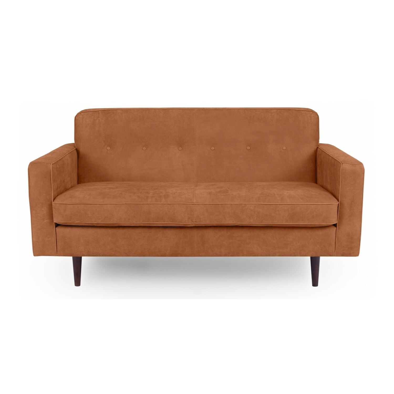 Kardiel Eleanor Midcentury Modern 60 Sofa Full Grain Aniline Leather