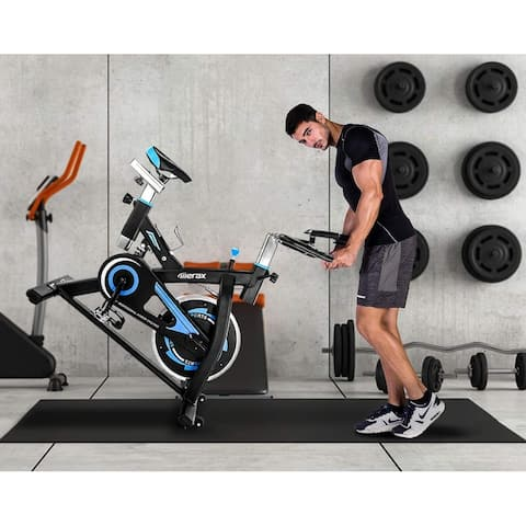 Merax Stationary Indoor Cycling Bike with Digital Monitor Quiet Belt Drive for Home Cardio Exercise
