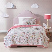 Mi Zone Kids Katie White Reversible Coverlet Set