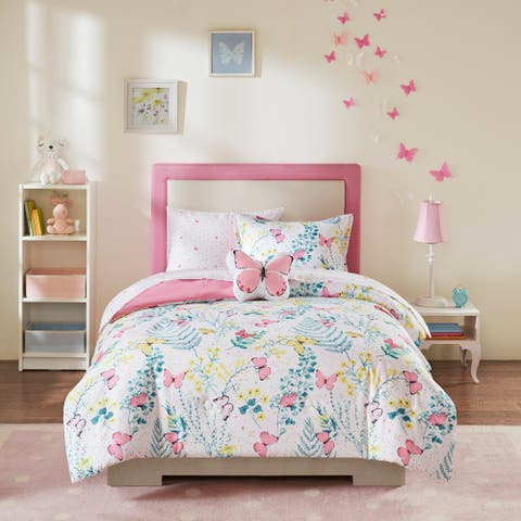 Mi Zone Kids Caroline Pink Complete Bed and Sheet Set