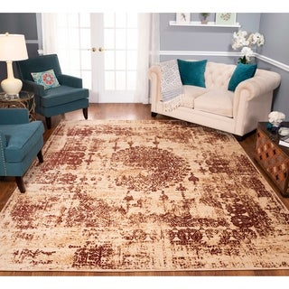 Strick & Bolton Morrow Beige/ Rust Area Rug