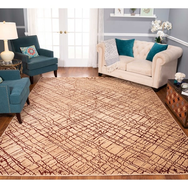 Strick & Bolton Montag Beige/ Rust Area Rug