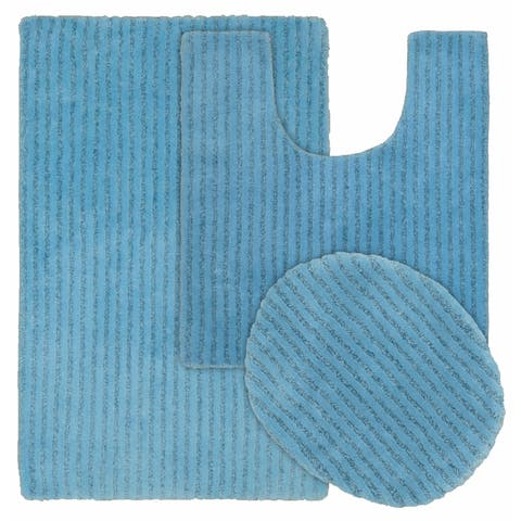 Sheridan 3pc Nylon Washable Bath Rug Set