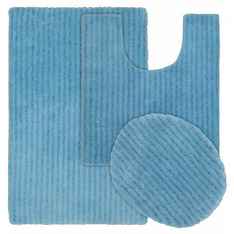 Sheridan 3pc Nylon Washable Bath Rug Set