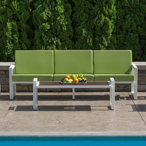 Elan Furniture Vero Outdoor Sofa - Ginkgo Sunbrella Cushions