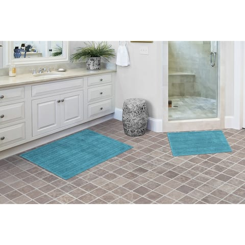 Grand Isle 2pc Washable Bathroom Rug Set