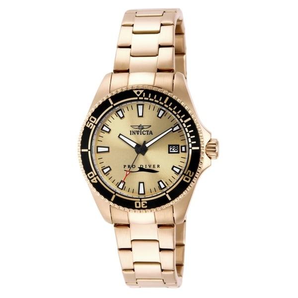 Invicta Women's Pro Diver 15138 Gold Watch