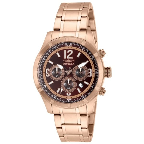 Shop Black Friday Deals On Invicta Men S Specialty 11378 Rose Gold Watch Overstock 27189700