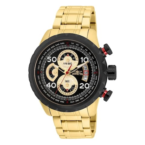 Invicta Men's 28151 'Aviator' Gold-Tone Stainless Steel Watch