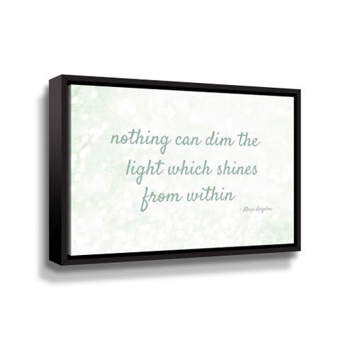 """Maya Angelou """"Within lll"""" Gallery Wrapped Floater-framed Canvas"""