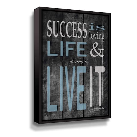 """Maya Angelou """"Success"""" Gallery Wrapped Floater-framed Canvas"""
