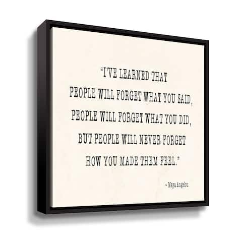 "Maya Angelou ""People V"" Gallery Wrapped Floater-framed Canvas"