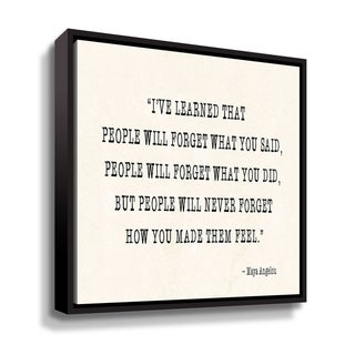 "Maya Angelou ""People V"" Gallery Wrapped Floater-framed Canvas"