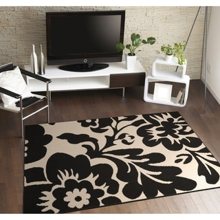 Floral Garden 8' x 10' Large Living Room Area Rug