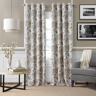"Link to Elrene Sorrento Floral Window Curtain Panel 84"" L in Blue/Taupe (As Is Item) Similar Items in As Is"