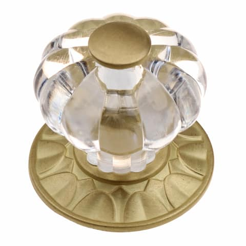 GlideRite 1.25-inch Clear Acrylic Cabinet Knob Satin Gold (Pack of 25)