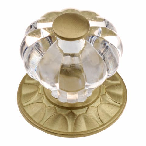 GlideRite 1.25-inch Clear Acrylic Cabinet Knob Satin Gold (Pack of 10)