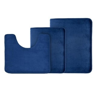 Non Slip Memory Foam Bath Rug - 3 Pack Set - Small, Large, and Contour rug