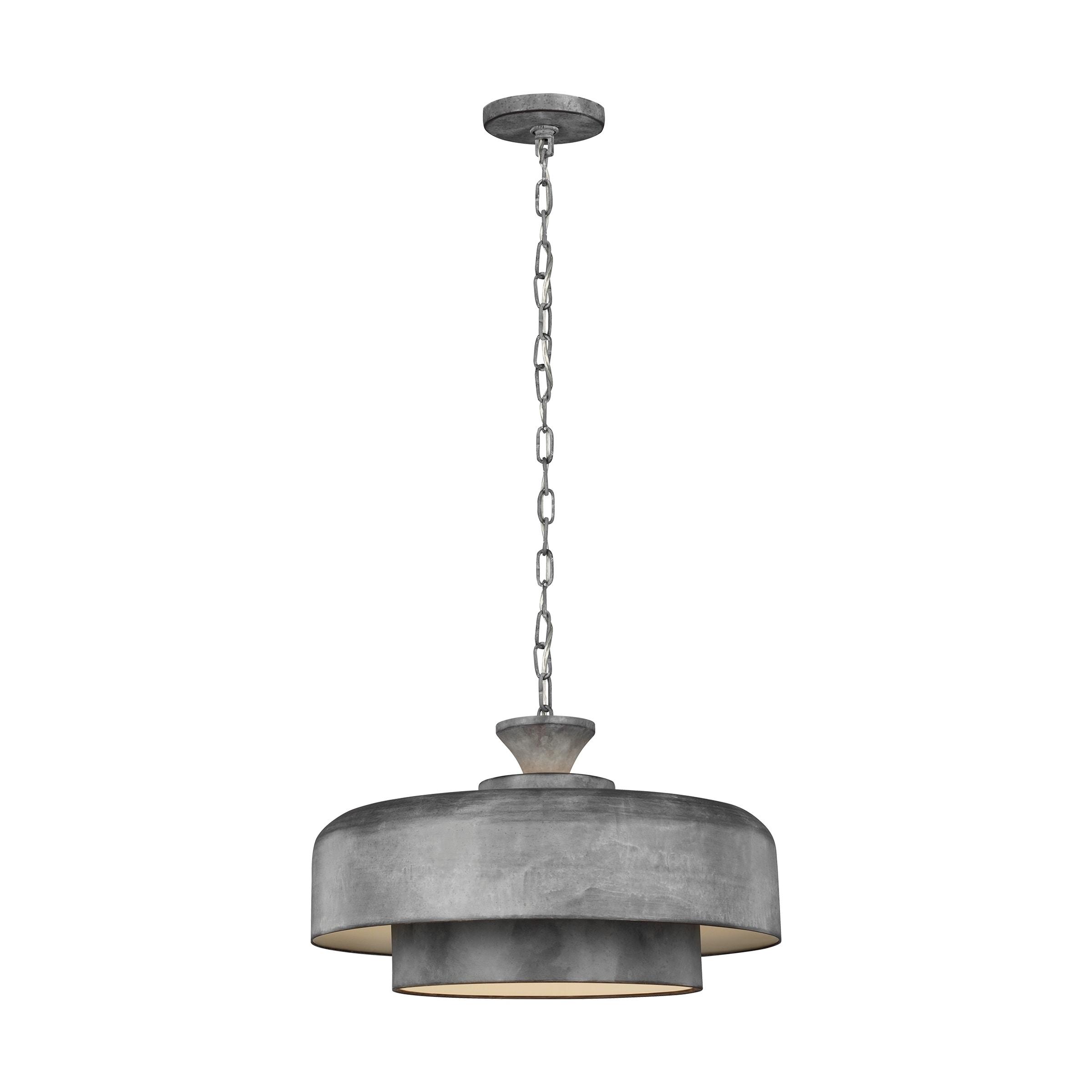 Shop Haymarket Weathered Galvanized Steel 1 Light Pendant Overstock 27190330