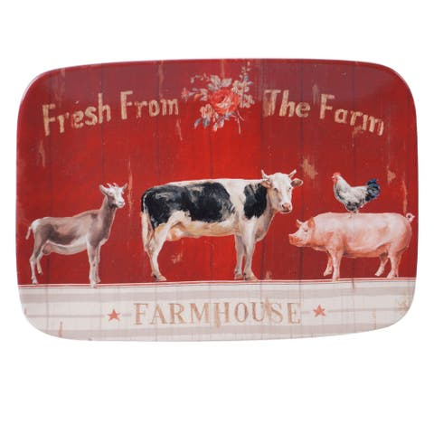 Certified International Farmhouse 14-inch Rectangular Platter
