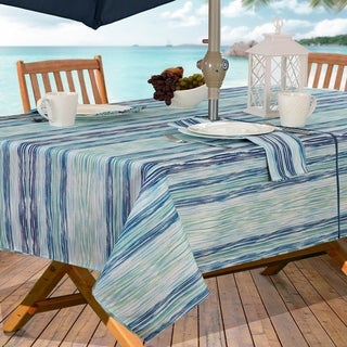 Color Stream Stain Resistant Indoor Outdoor Tablecloth