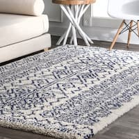 The Curated Nomad Stockton Moroccan Plush Abstract Tribal Shag Rug