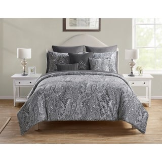 VCNY Home Lila Reversible Paisley Bed-in-a-Bag Comforter Set