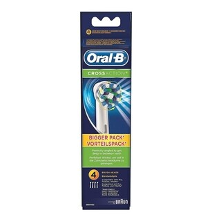 Oral B CrossAction Replacement Brush Heads, 4 Count